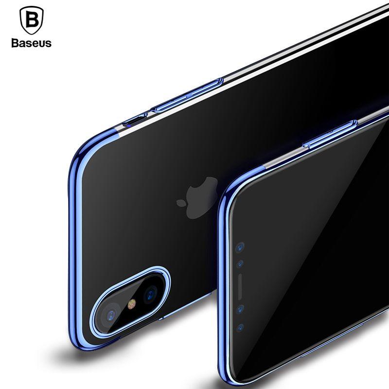 Baseus De Luxe Placage Cas Pour iPhone X 10 Capinhas Ultra Mince galvanoplastie Dur PC Cas de Couverture Arrière Pour l'iphone X Shell Coque