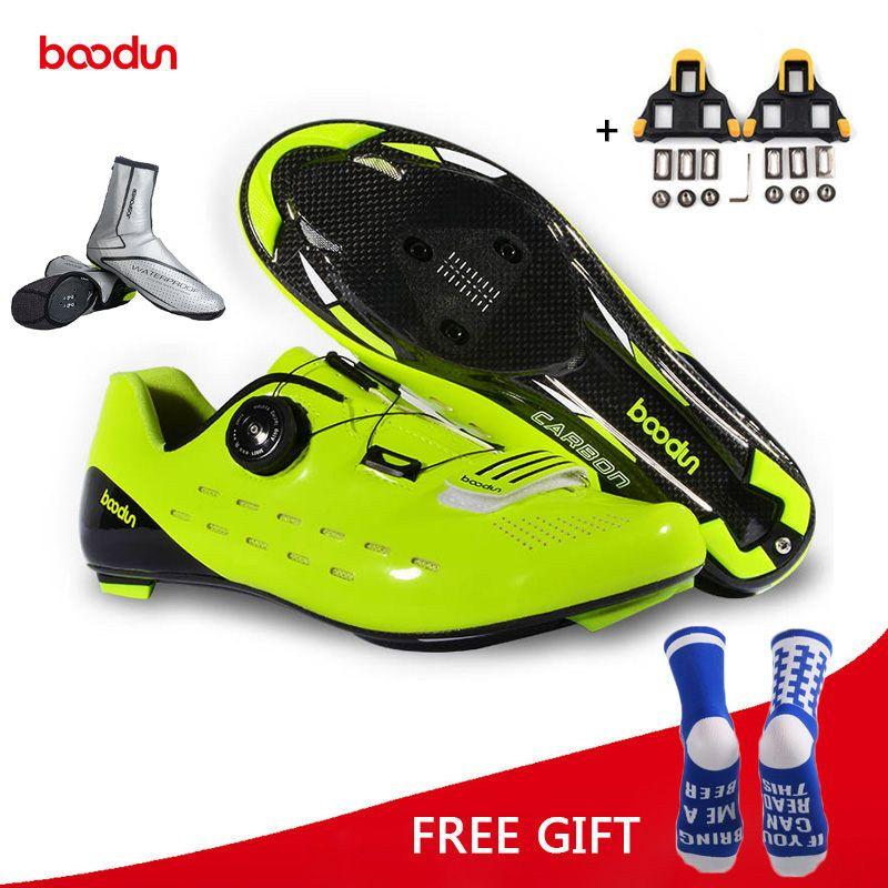 Boodun Reiten Radfahren Schuhe Road Carbon Faser Atmungs Fahrrad Schuhe Sportlich Racing Turnschuhe Bike Schuhe Zapatillas Ciclismo