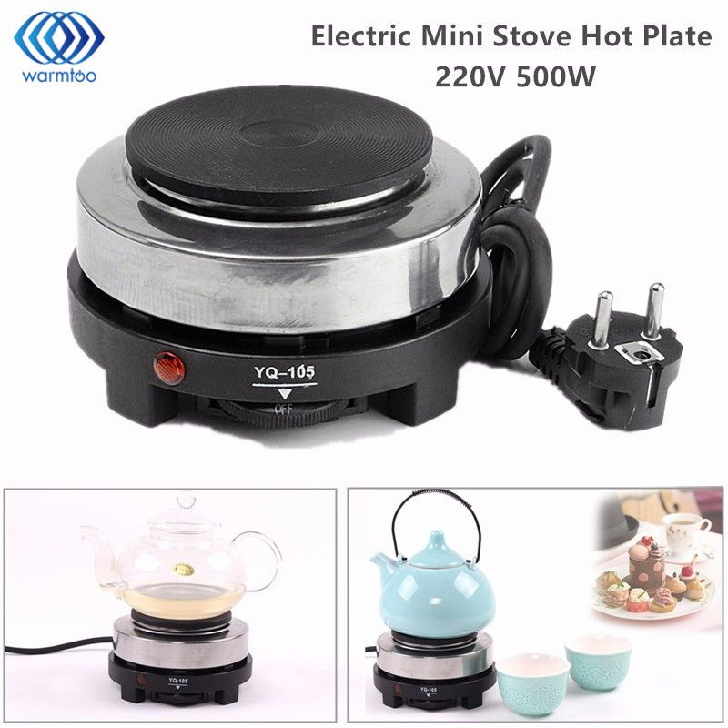 Electric Stove Hot Plate Mini Cooking Plate Multifunction Coffee Tea Heater Home Appliance Hot Plates for Kitchen 220V 500W