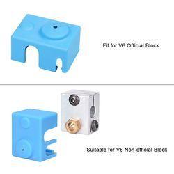 1/3 PCS V6 Silicone Socks Fit to V6 Block Reprap J-head 1.75/3.0mm Bowden/Direct Extruder Heater Block 3D Printer Parts