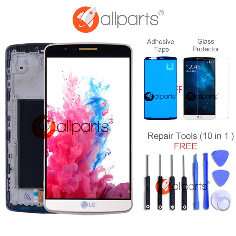Original Tested Screen for LG G3 LCD Touch Screen Digitizer Assembly for LG G3 Display D850 D851 D855 Replacement