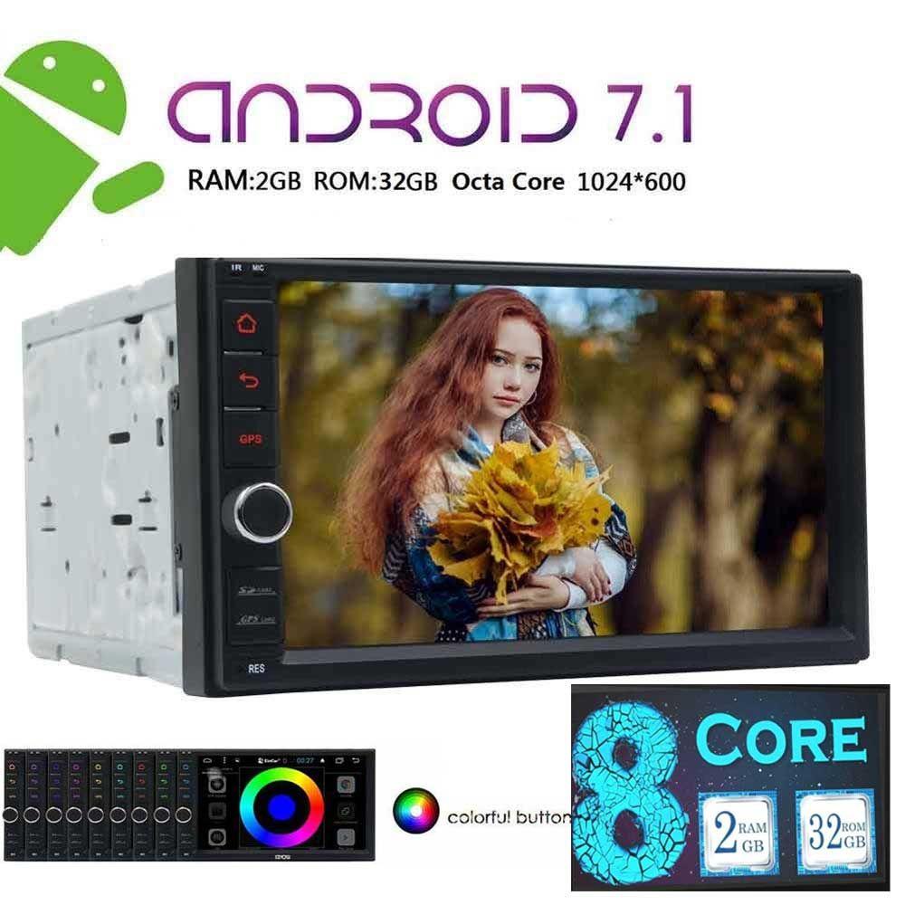 Android 7.1 2 Din Auto autoradio styling Elektronik PC Stereo GPS mit 8 Kerne unterstützung 4G Bildschirm Spiegel Bluetooth + Rückfahrkamera