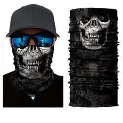 BJMOTO Motorcycle Face Shield Sun Balaclava Ski Hood Skull Face Mask Windproof Anti-UV Helmet Skiing Scary mask Bandanas