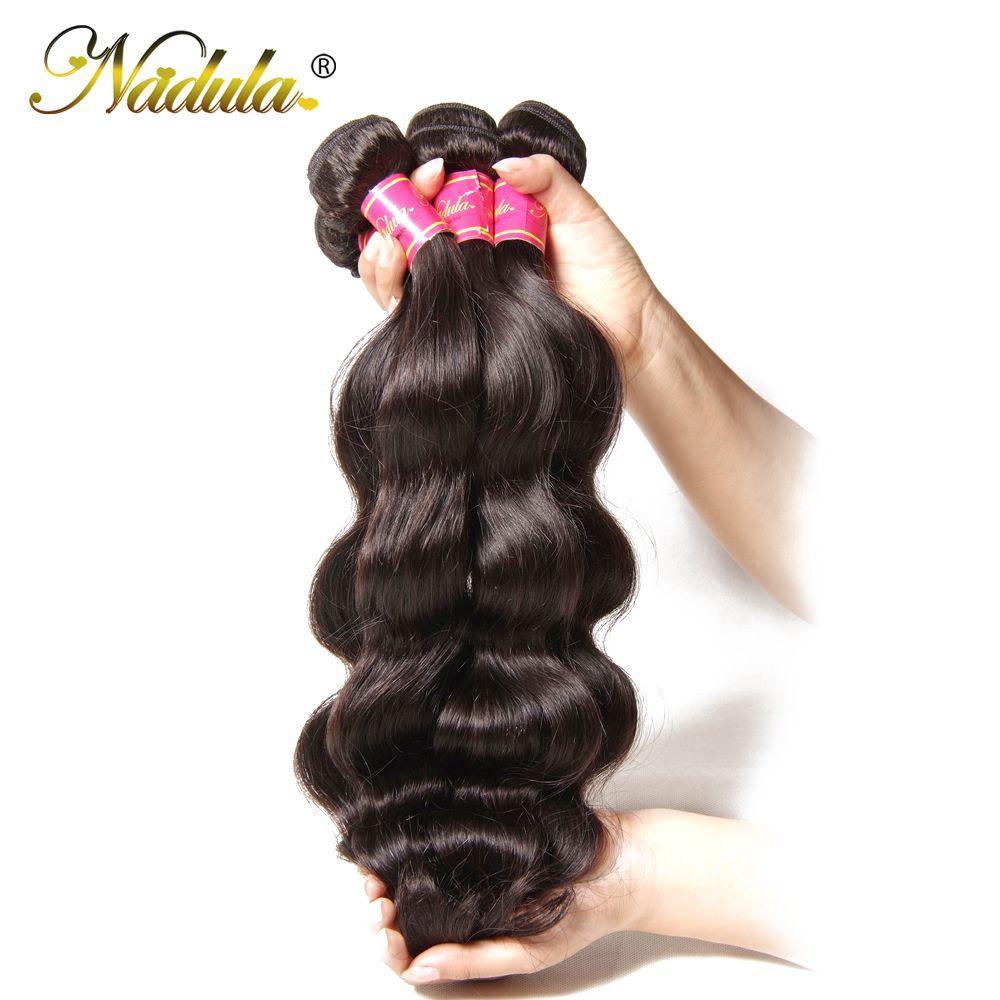 Nadula cheveux brésilien vague de corps cheveux humains tisse 3 pièces/4 pièces cheveux brésiliens vague de corps paquets cheveux vierges 8-30 pouces couleur naturelle