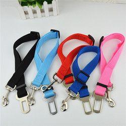 Ajustable perro Seguridad cinturón nylon mascotas Puppy asiento plomo arnés cinturón de seguridad del vehículo 6 color 1 unids gota libre