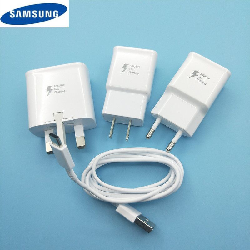 Original 9V 1.67A USB Quick Adaptive Fast Charger +100CM type c Cable For Samsung Galaxy s8 s9 plus note 8 A3 A5 A7 2017 A8 2018