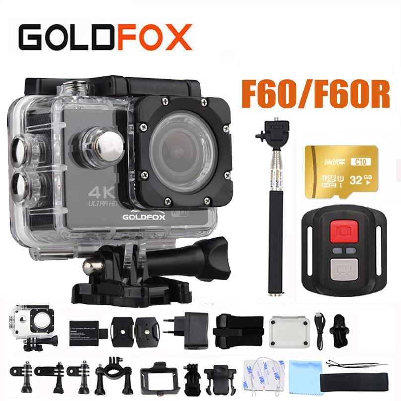 GOLDFOX F60/F60R 4K WIFI Action Camera Ultra HD 1080P Sports Camera Go Waterproof pro DV Camcorder 16MP 170 Degree Wide Angle
