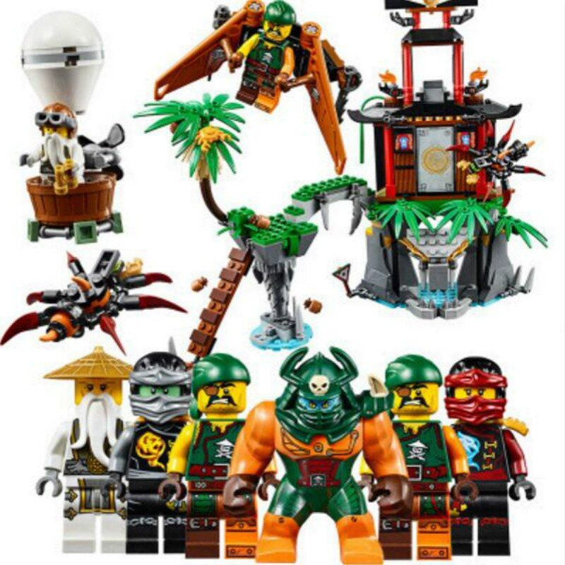 Bela 10461 Ninjago Tiger Widow Island Spinjitzu Nya/Cole/Sensei Wu Building Blocks Bricks Toy Compatible with Legoe 70604
