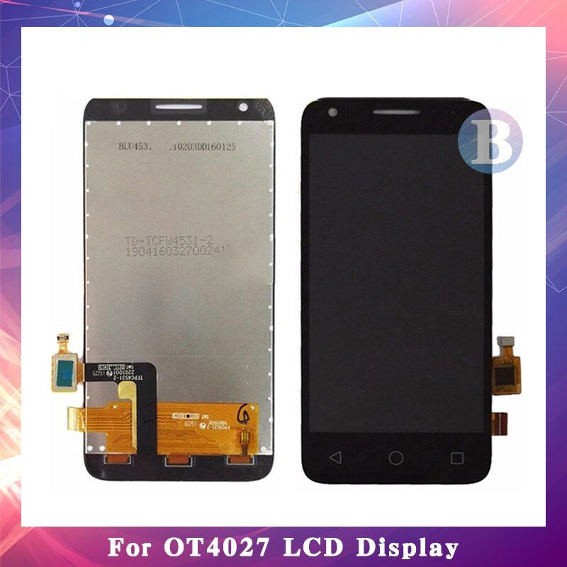 4.5'' For Alcatel One Touch Pixi 3 4027D 4027X 4027A OT4027 LCD Display Screen With Touch Screen Digitizer Assembly High Quality