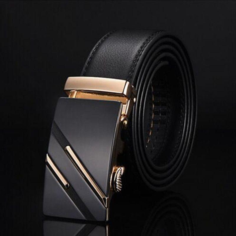 2019 célèbre marque ceinture hommes véritable luxe en cuir hommes d'affaires ceintures pour hommes, sangle mâle métal automatique boucle