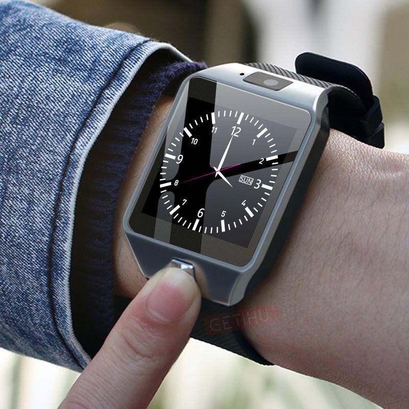 GETIHU DZ09 Smartwatch montre intelligente numérique hommes montre pour Apple iPhone Samsung Android téléphone portable Bluetooth SIM TF carte caméra