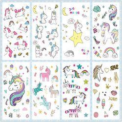 Rocooart Cartoon Unicorn Tattoo For Kid Cute Fake Taty Children Tatouage Temporaire Body Art Waterproof Temporary Tattoo Sticker