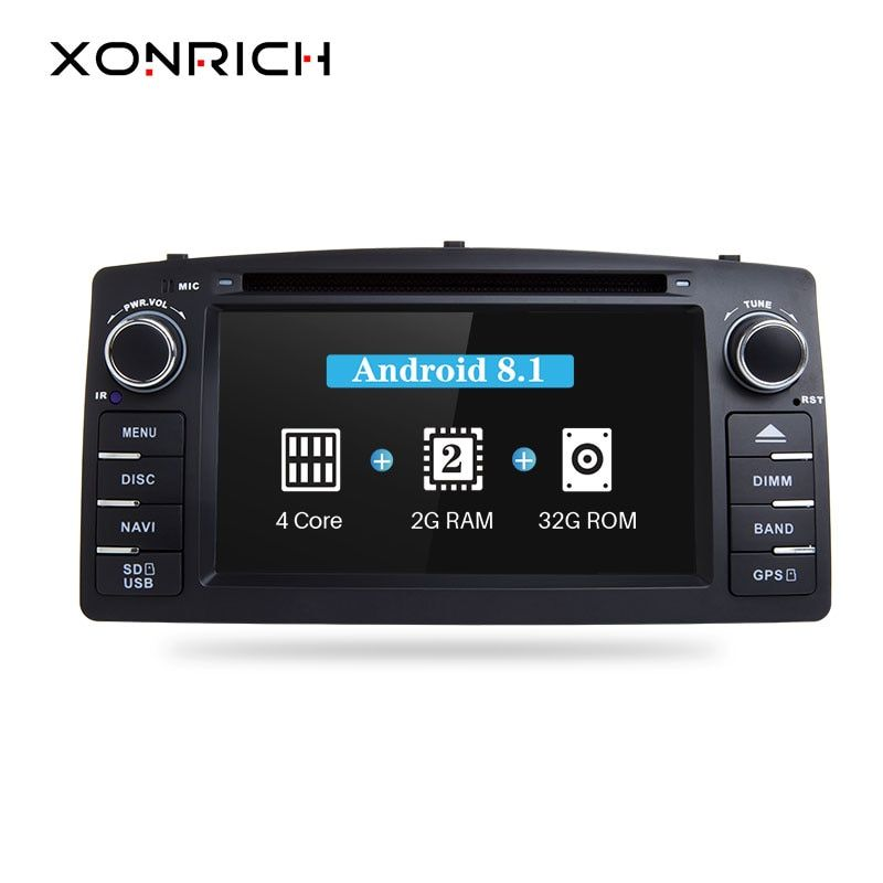 Xonrich Android 8.1 Car DVD Player For Toyota Corolla E120 BYD F3 2 Din Car Multimedia Stereo GPS AutoRadio Navigation Wifi OBD2