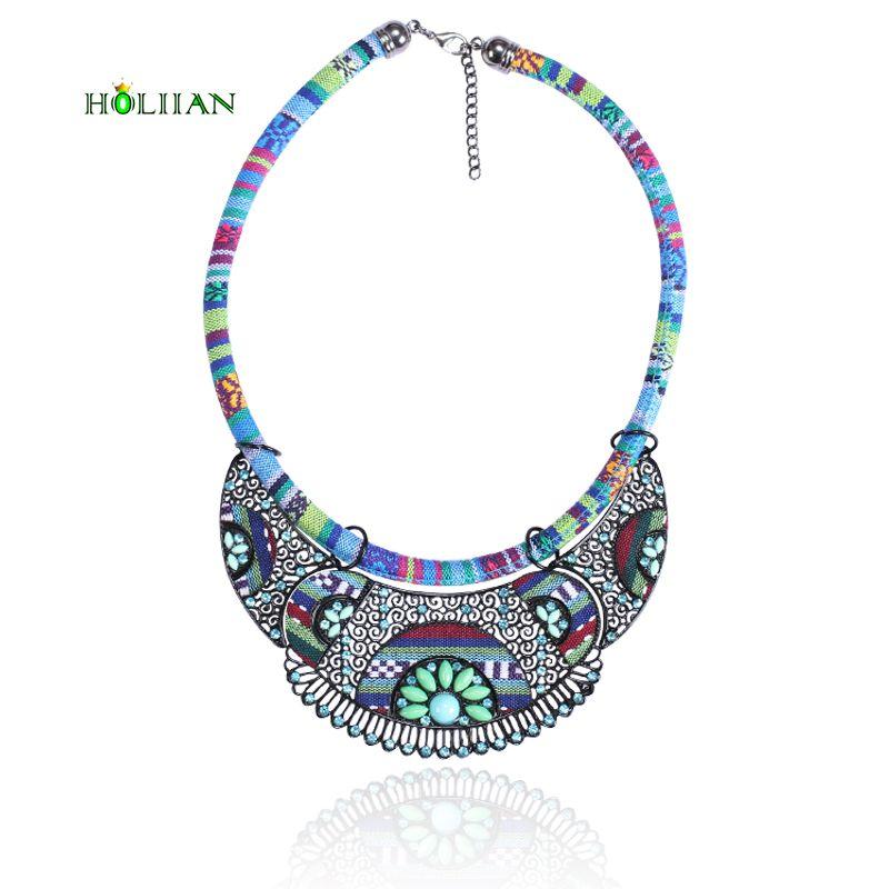 Hot nouveau femmes bohème collier et pendentifs multicolore déclaration fleur collier ras du cou za tribal ethnique boho bijoux mujer bijoux