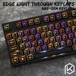 Outlined ABS Backlit 104-Keycap Set ABS Keycap Set 108 87 For MX Switches Free shipping ABS oem profile 104 keys