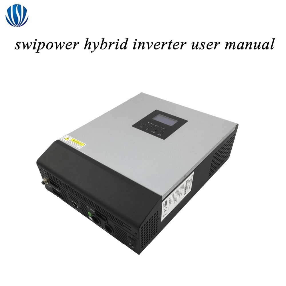 Hybrid Inverter 3KVA/5KVA PWM/MPPT Off Grid Pure Sine Wave Solar Inverter 24V/48V Battery Charger