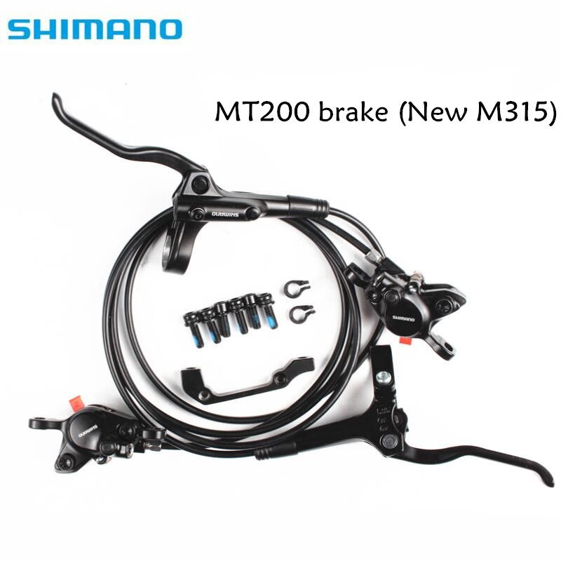 shimano BR BL MT200 M315 Brake bicycle bike mtb <font><b>Hydraulic</b></font> Disc brake set clamp mountain bike Brake Update from M315 Brake
