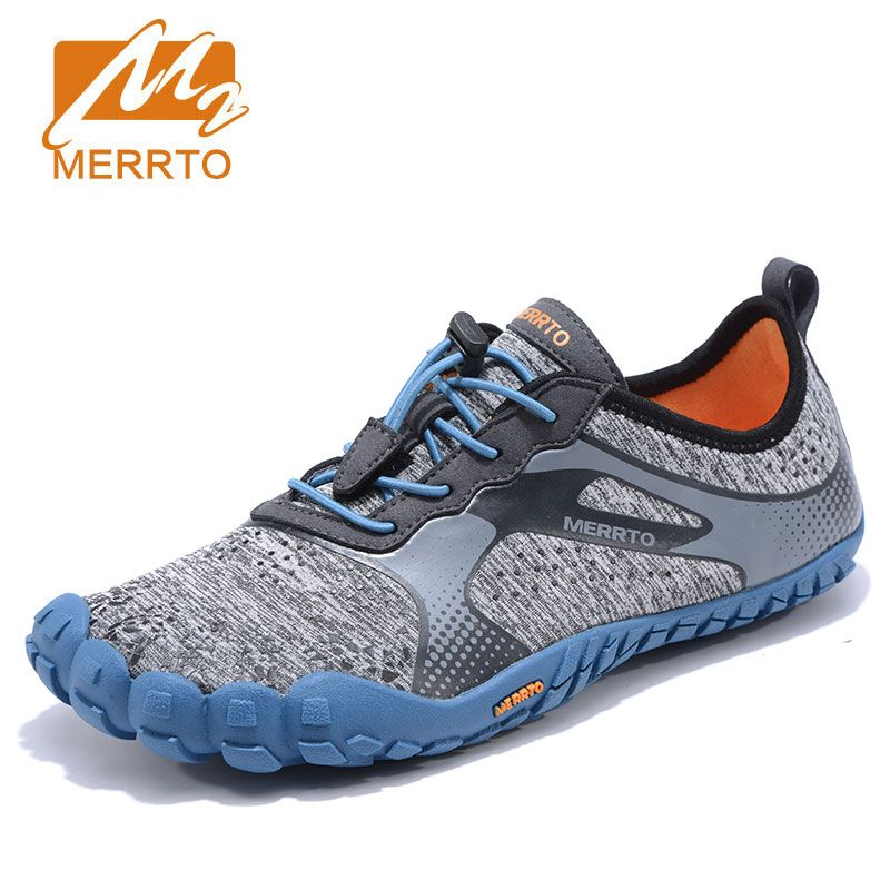 MERRTO Men's Anti-Skid Outsole Five Finger Toes Quick-Drying Outdoor Waking Shoe waterproof Breathable Lightweight 5 Toe Shoes