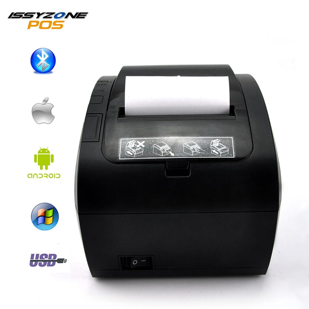 Cheap 80mm 300mm/s Thermal Kitchen Cashier Printer for Restaurant Supermarket Hotel (USB/Serial/Ethernet/Bluetooth)Auto Cutter