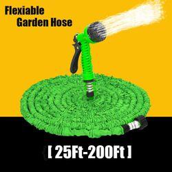 25-200FT Extensible Flexible Magique Jardin Tuyau Pour Tuyau D'eau de Voiture En Plastique Tuyaux À Arrosage Avec Pistolet Jardin Arrosage Cool