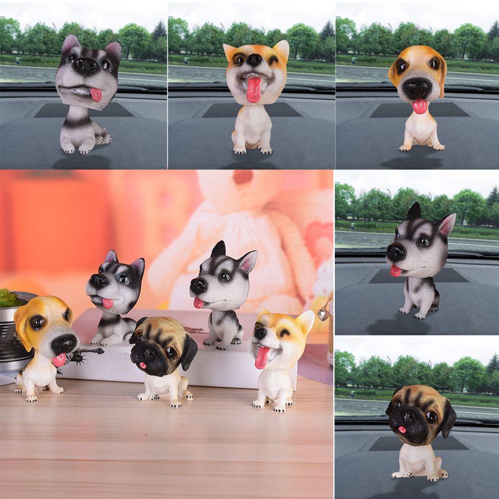 Animal Swinging Animated Bobble Dancer Toy Car Decoration Nodding Resin Puppy Dog Shakes Head Shaking Dog Car Styling USPS
