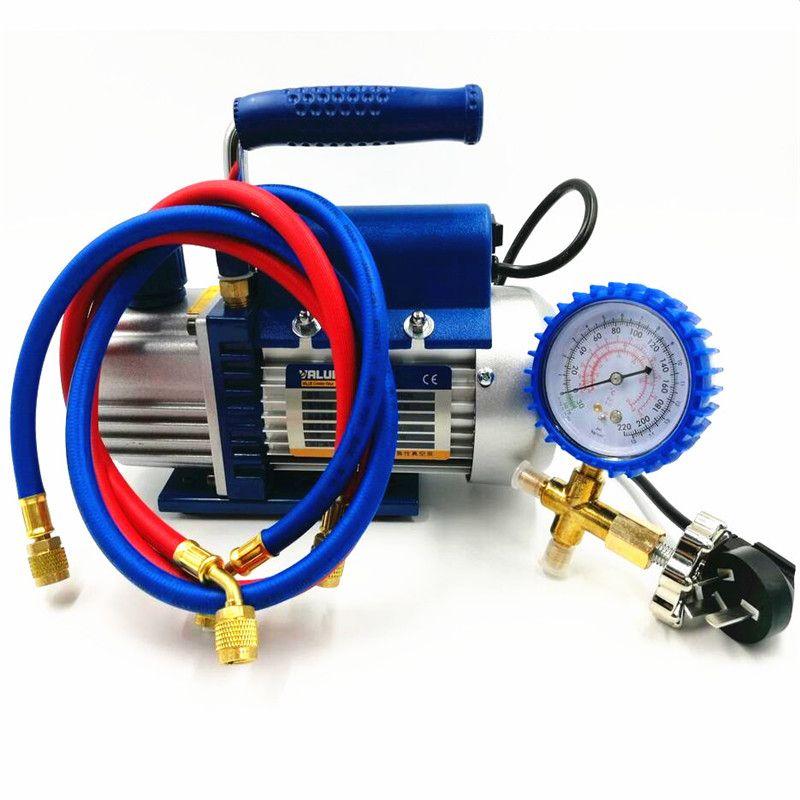 150 W pompe à vide FY-1H-N climatiseur ajouter fluorure outil pompe à vide ensemble avec table de réfrigérant manomètre tube réfrigérant