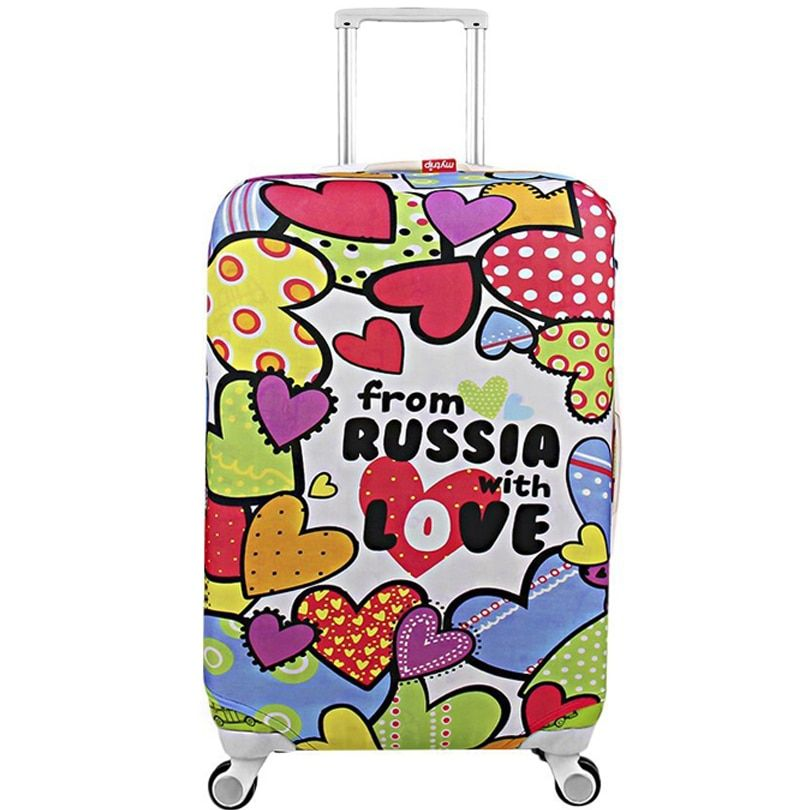 Luggage CoversElastic Protective Suitcase Cover Fashion Dustproof Cover for Trunk Case Apply to 18-32 inch Trolley Trunk Case