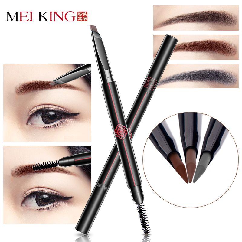 MEIKING Brand Eyebrow Pencil & Brush Eyebrow Enhancer Long Lasting Makeup Pencil To Eye Waterproof Eyebrow Brush Make UP Tool