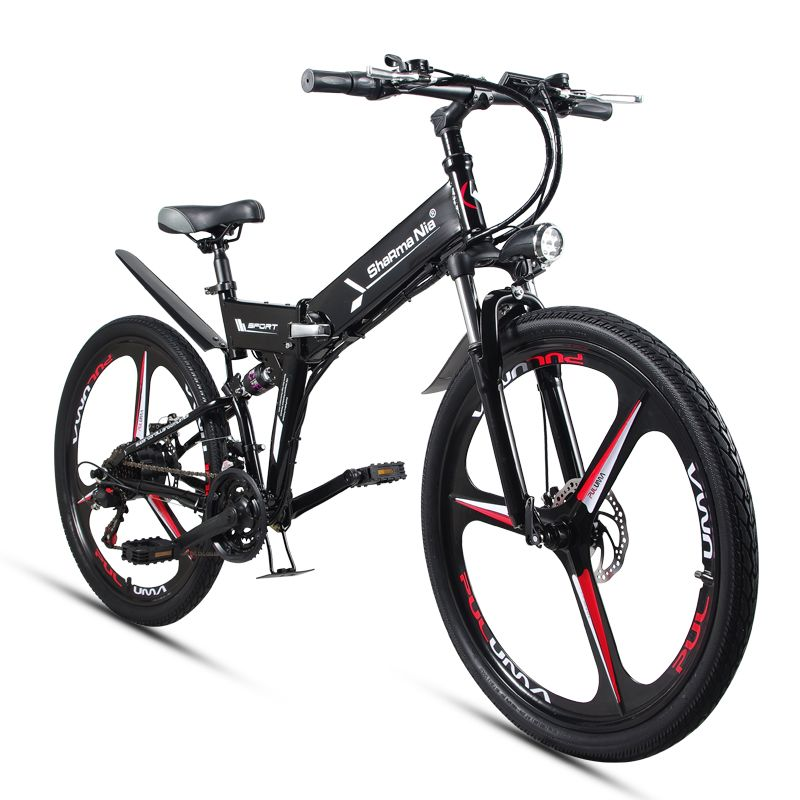 26inch folding electric mountain bicycle 48V 350W high speed ebike Removable lithium battery Travel assisted electric bike
