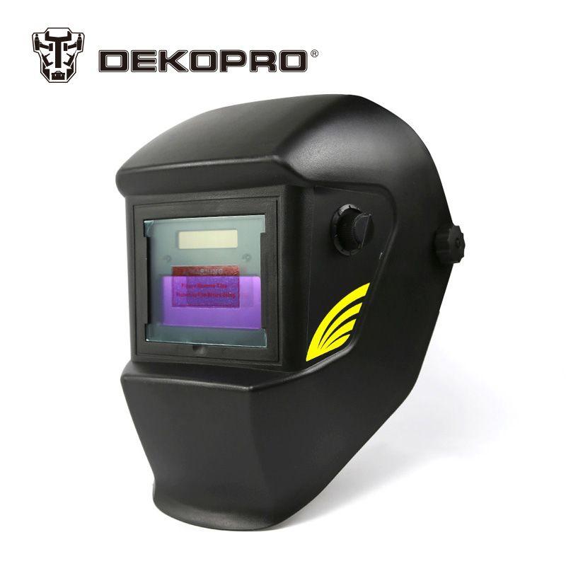 DEKOPRO Basal Black Solar Auto Darkening MIG MMA Electric Welding Mask Helmet Welding Lens for Welding Machine or Plasma Cutter