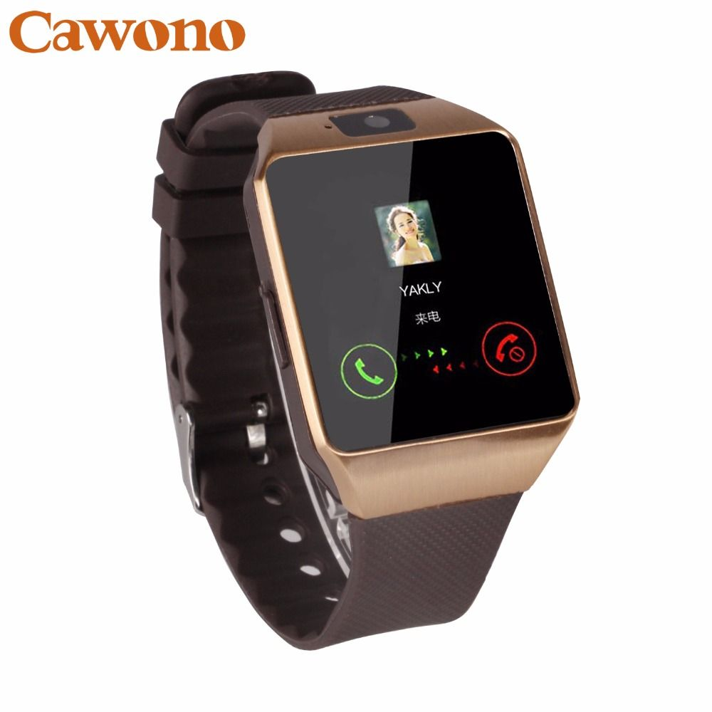 Cawono Bluetooth reloj inteligente android DZ09 Smart Watch Reloj android Reloj inteligente android Smartwach relojes inteligentes Llamada Telefónica smart watch mujer SIM TF Cámara para IOS iPhone HUAWEI VS kw88 Q18