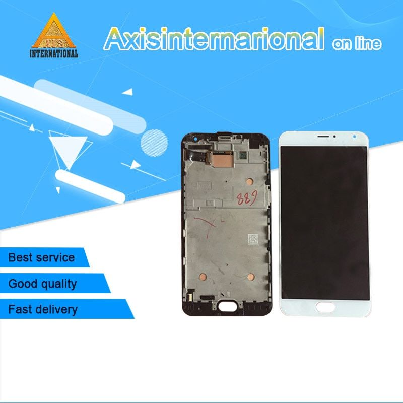For 5.7 Meizu Pro 5 pro5 Axisinternational LCD screen Display+Touch panel Digitizer with frame  Black/White free shipping