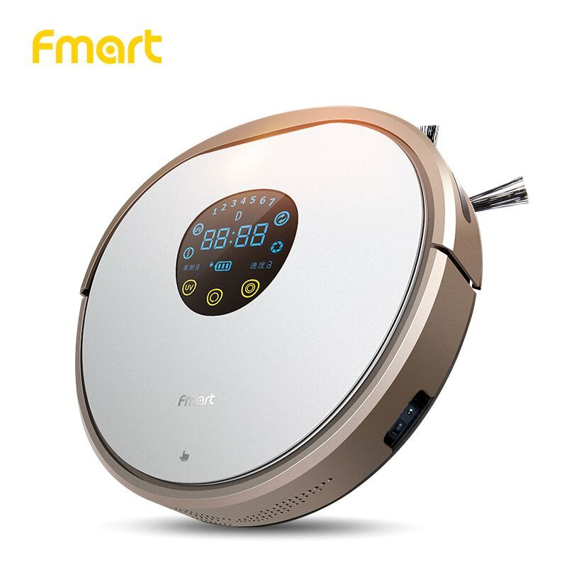 Fmart Robot Vacuum Cleaner UV Dust Sterilize 1000PA For Home Cleaning Appliance With Self-Charge For Wood Floor Aspirator YZ-V2