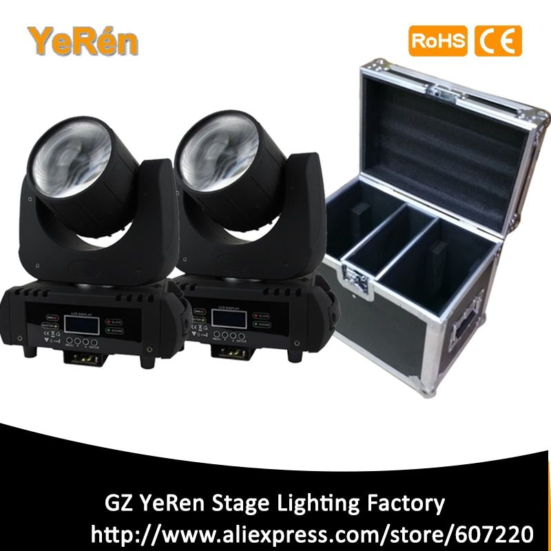 (2 Pieces/lot) Beam Led Moving Head Light Beam 60W Led Lamp DMX 11 Channels 6 colors Stage Lighting DJ Lighting with flight case
