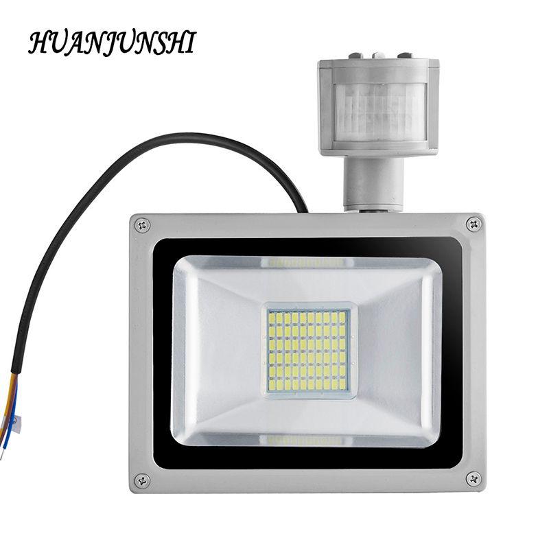 Led Flood Light Motion Sensor 30W 50W 100W Searchlight 220V Led Floodlight Reflector Waterproof Projector Lamp Outdoor Lighting