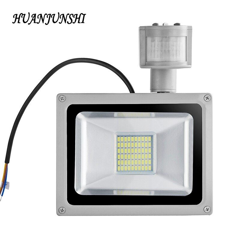 Led <font><b>Flood</b></font> Light Motion Sensor 30W 50W 100W Searchlight 220V Led Floodlight Reflector Waterproof Projector Lamp Outdoor Lighting