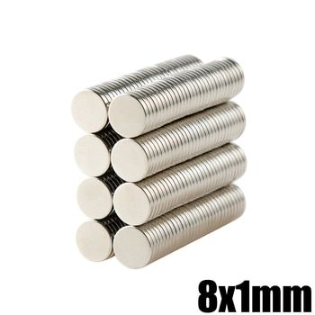 50 Pcs 8x1 Aimant Néodyme Disque Permanent N35 NdFeB Petit Rond Super Puissant Forte Magnétique Aimants 8mm x 1mm