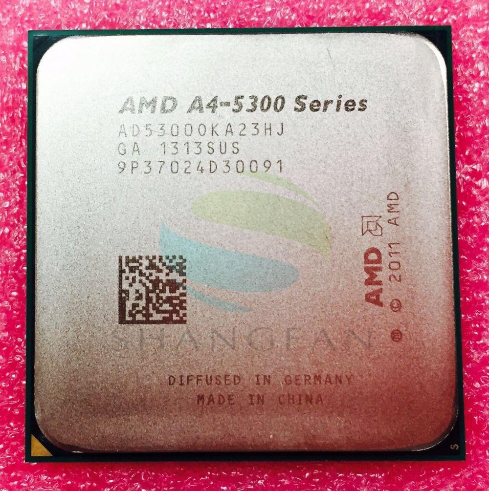 AMD A-SERIES A4 5300 A4 5300 K A4-5300K 3.4 Ghz 65 W Dual-Core processeur d'unité centrale AD530BOKA23HJ AD5300OKA23HJ Prise FM2