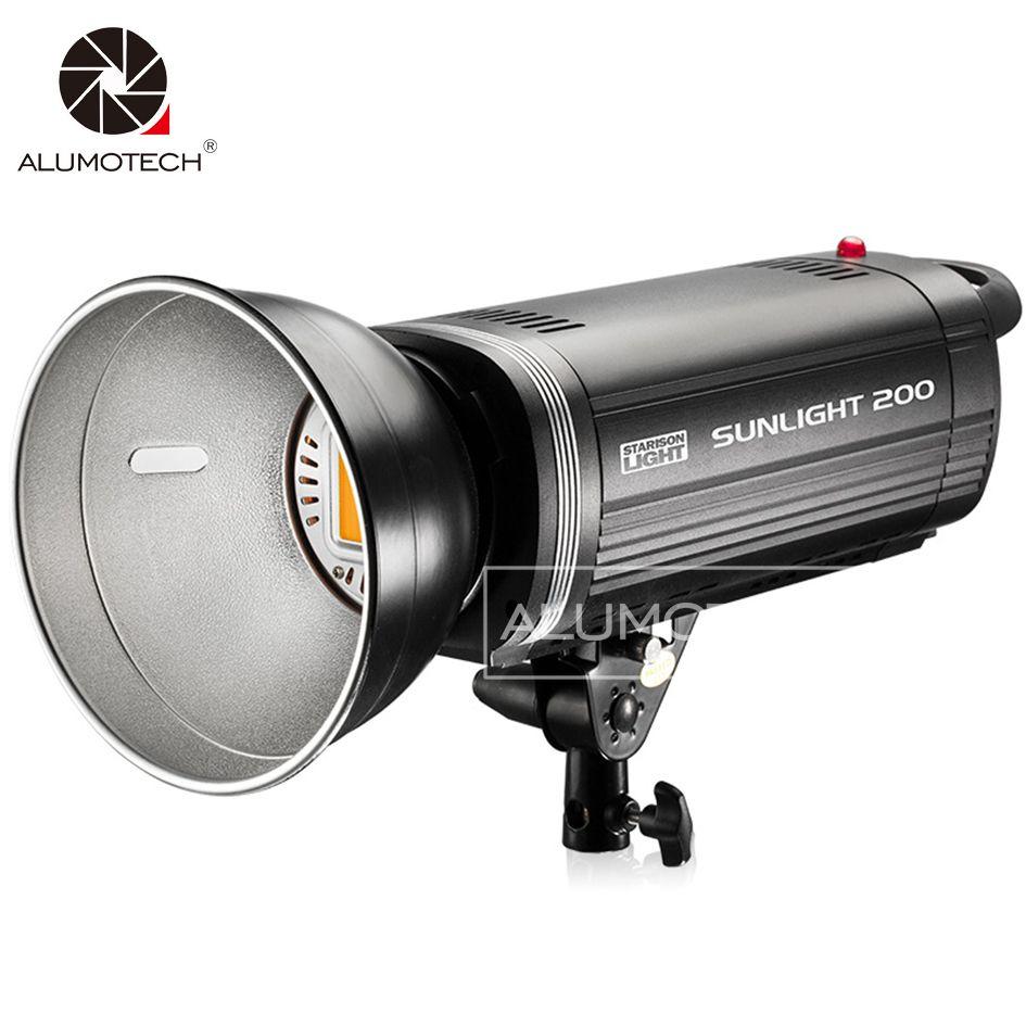 200W LED Licht Hohe CRI Sunlamp Strobe-Beleuchtung Photogarphy Füllen Flash Für Baby Photogarphy Studio Kamera Video
