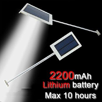 QLTEG 15 LED Solar lamp Sensor solar Powered Panel LED Street Light Outdoor Garden Path Spot  Wall Emergency Lamp luminaria