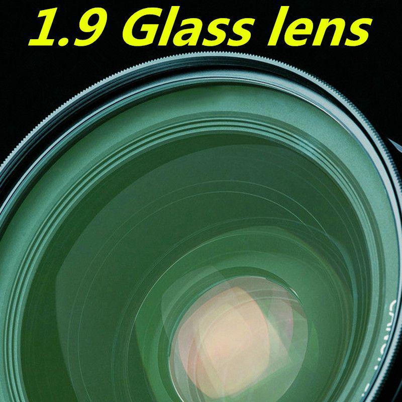 Glaslinse 1,9 hohe brechung grünfolie asphärische linse high-definition ultra-dünne hohe myopie rezept objektiv
