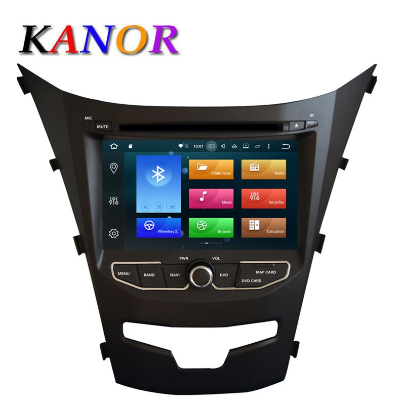 KANOR Octa Core RAM 2G 2 Din Android 6.0 Car DVD Video Player For Ssangyong Korando 2014 Headunit GPS Navigation WIFI Map