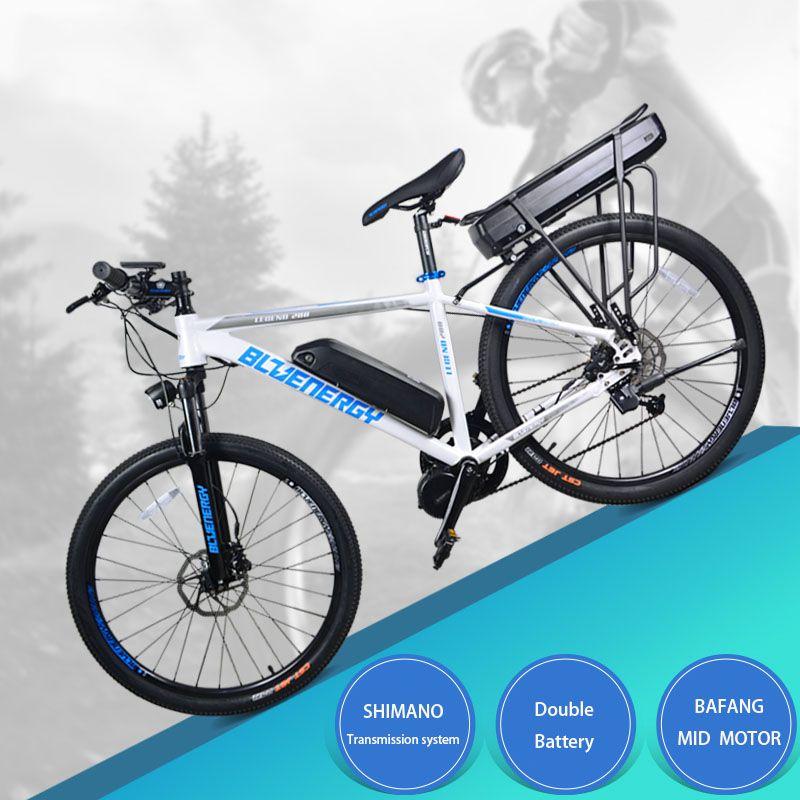 26 zoll elektrische fahrrad 48V750w bafang mitte-motor 48 v 27.5ah doppel lithium-batterie elektrische mountainbike 850c LCD