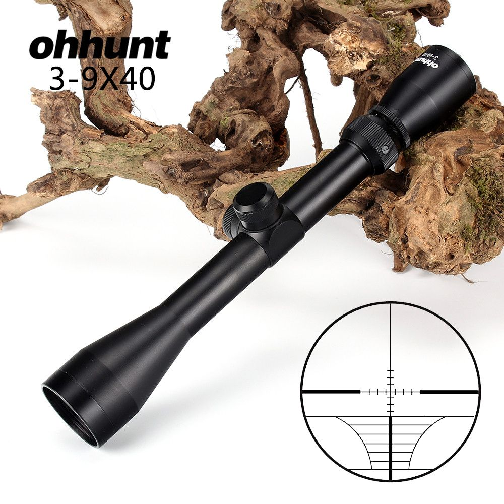 Tactical ohhunt 3-9X40 Optics Riflescopes Rangefinder Reticle Crossbow Airguns Shooting Hunting Rifle Scope with Mount Rings