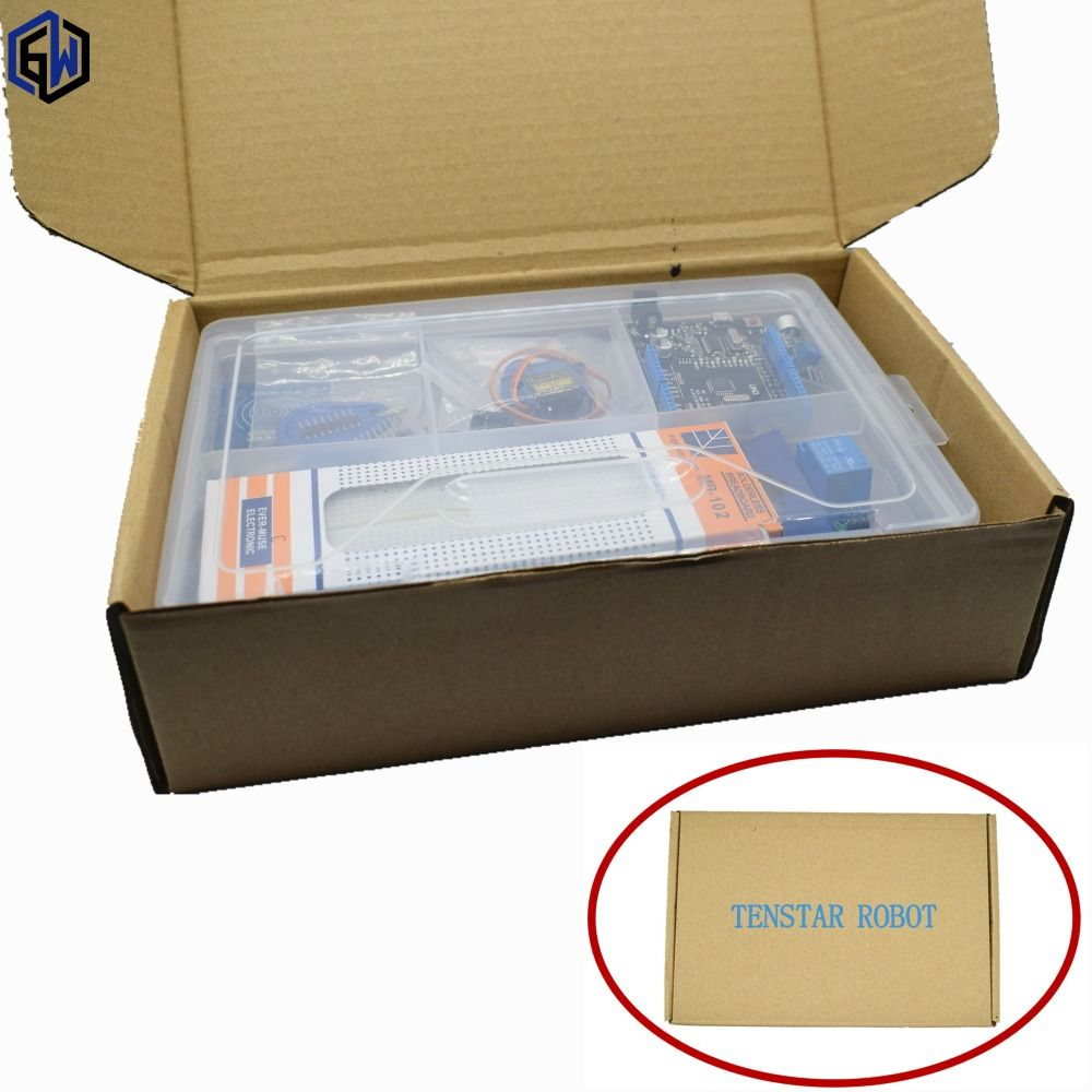 UNO R3 KIT for arduino Upgraded version of the Starter Kit the RFID learn Suite LCD 1602/RC522/sg90 servo With Retail Box