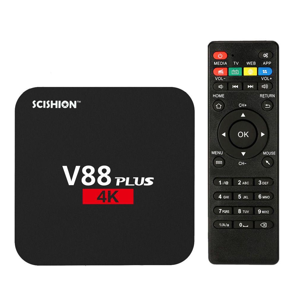 V88 Plus Smart Android 6.0 TV Box RK3229 Quad Core KODI 16.1 XBMC UHD 4K TV Boxes HDMI 2GB 8GB WiFi HD Media Player Set top Box