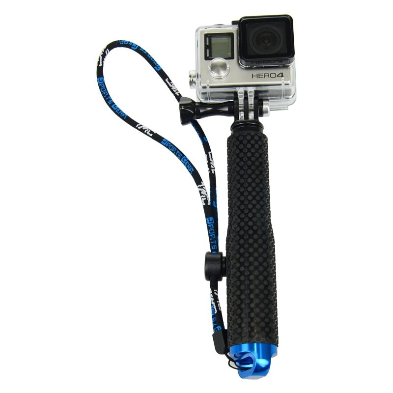 Wasserdichte Aluminium Teleskop-handheld Einbeinstativ Selfie Stick für GoPro Hero6 5 4 3 plus 2 SJ4000 xiaomi yi 4 karat Action kamera