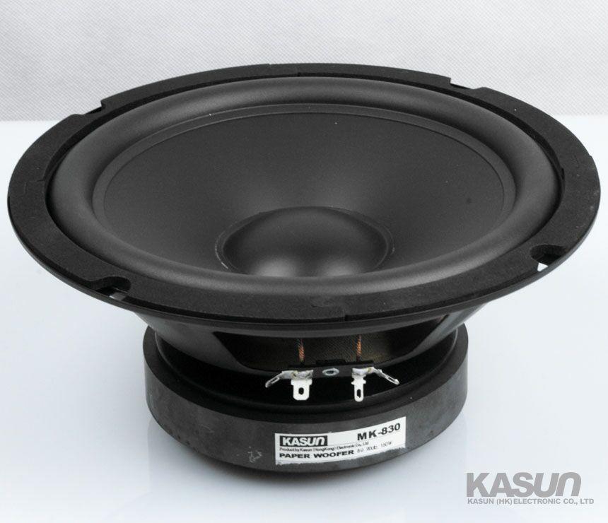 2PCS KASUN MK-830 8'' Woofer Speaker Driver PP Cone Rubber Surround 8ohm/150W Max Diameter 210mm Fs 39Hz
