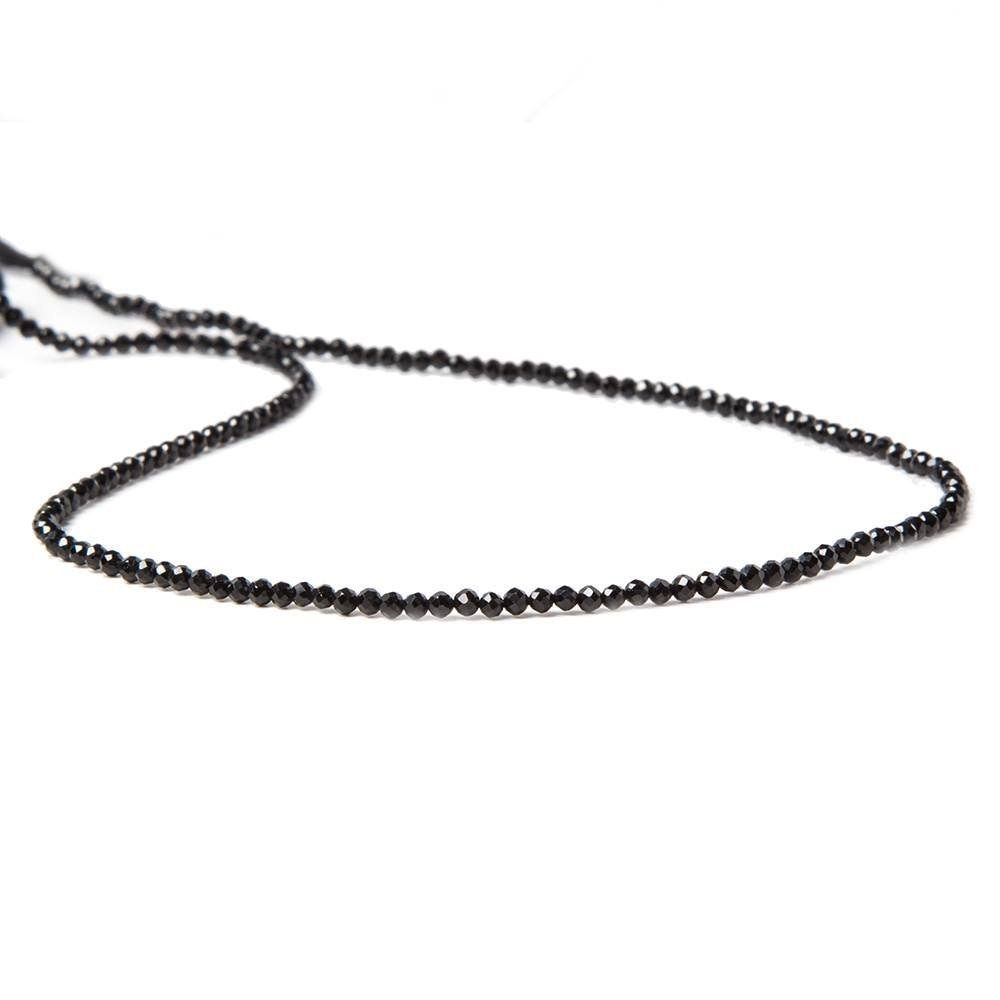 Lii Ji AAA Black Spinel about 1-2mm Round Faceted beads DIY Jewelry Making Approx 37cm