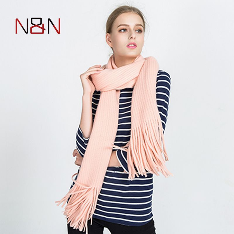 NN Women Solid Color Cashmere Scarves With Tassel Lady Winter Thick Warm Scarf High Quality Female Shawl Hot Sale NN-CS-040